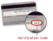 Visa, Master Card, and Discover Verification Code