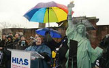 New Yorkers Brave the Elements to Rally for Refugees