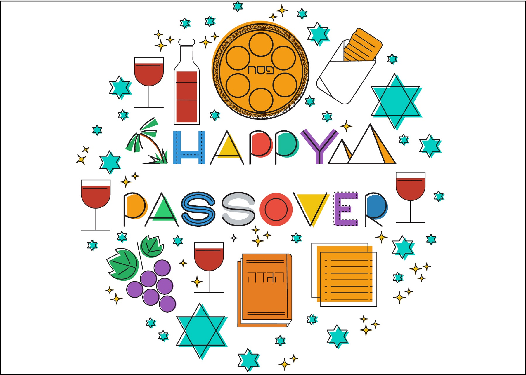Passover Cards 2019_Stars_Oulined.jpg