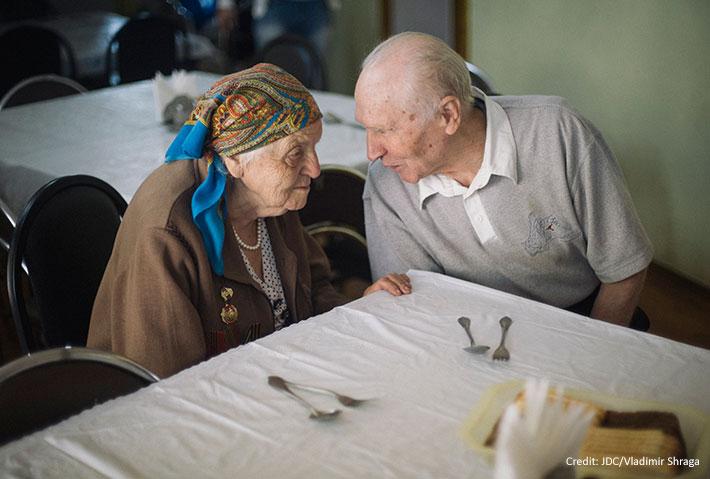 elderly woman, elderly man