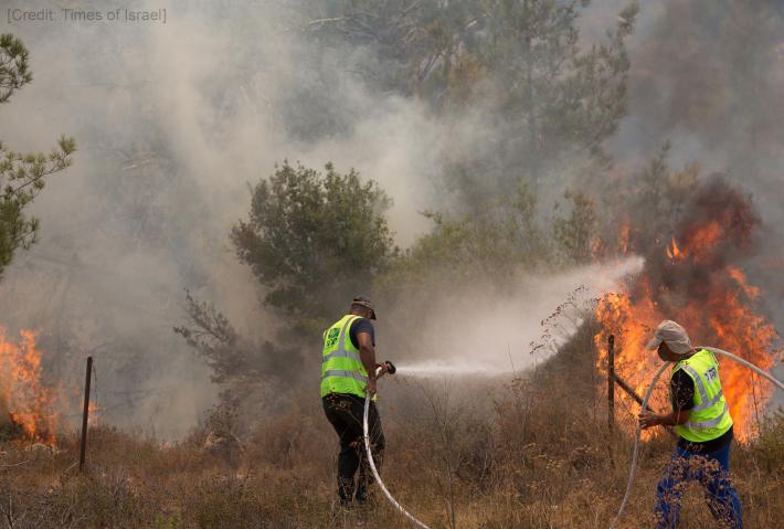 Brush Fires Threaten Jerusalem