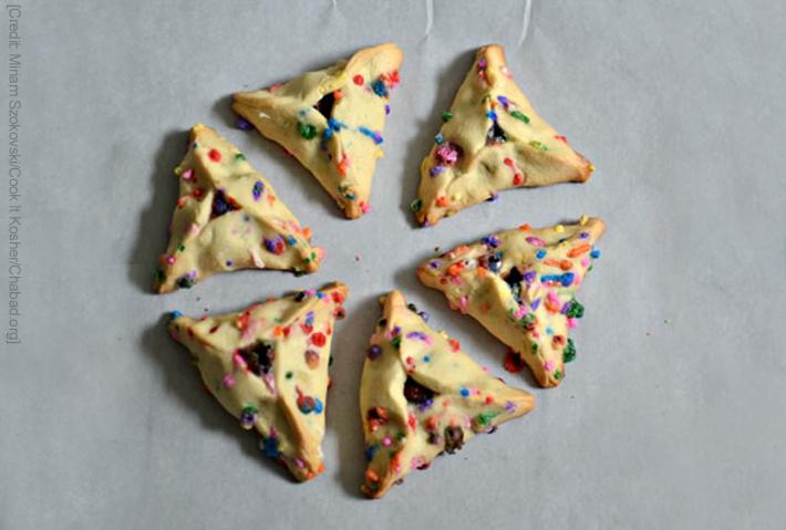Let's Make Chocolate Funfetti Hamantaschen for Purim!