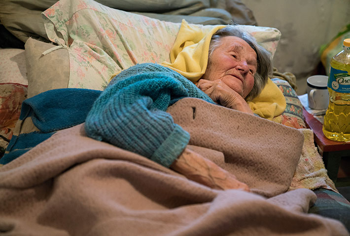 Bedbound Elderly Woman