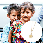 "Click here for more information about Freedom Package: JustOne Brass ""Hope"" Necklace + Urgent Needs"