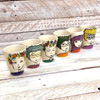 Set of 6 Hand Painted Espresso Cups - Women