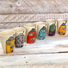 Set of 6 Hand Painted Espresso Cups - Houses