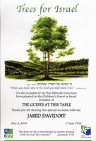 Trees for Israel - #1907-I