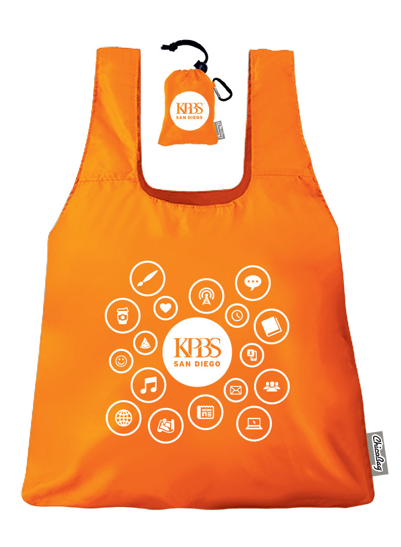 NEW KPBS Chico Reusable Grocery Bag (Orange)