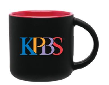 Black and Red KPBS Mug