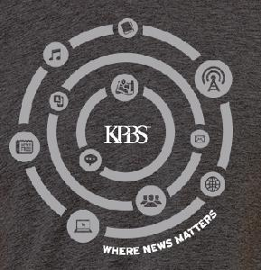 KPBS Where News Matters Gray T-Shirt (Large)
