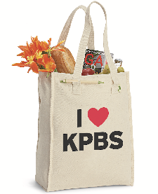 I Love KPBS tote bag