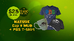 Click here for more information about Nature Cap + Mug + T-shirt (Large)