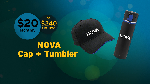 Click here for more information about NOVA Cap + Tumbler