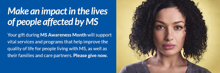 Make an impact in the lives of people affected by MS
