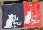 Click here for more information about Adopted Cat Short Sleeved T-Shirts