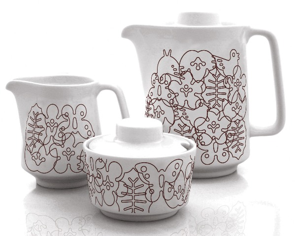 brown season coffee set