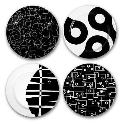 black in the mix salad plates