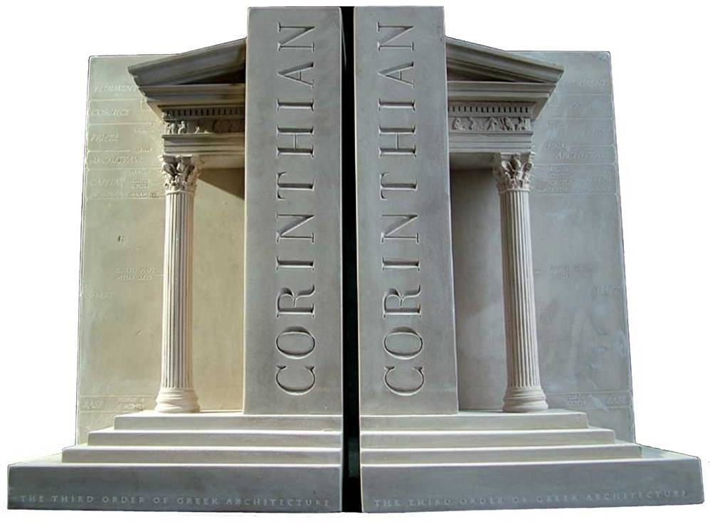corinthian column bookends