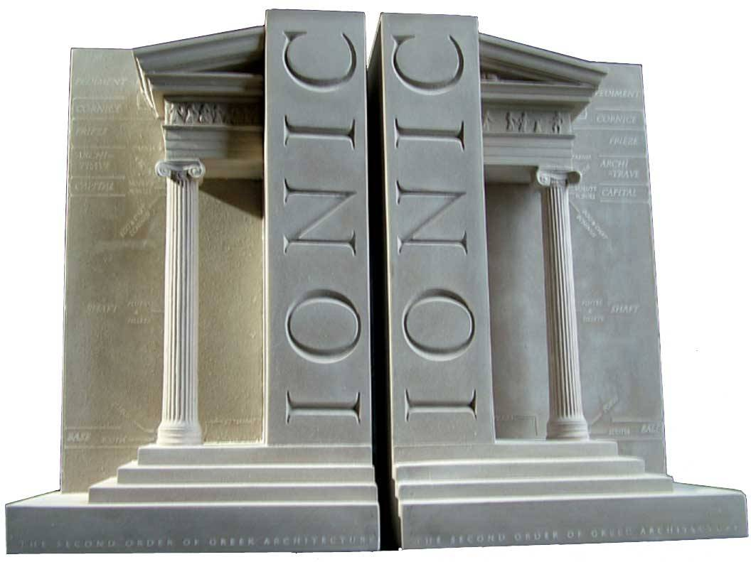 ionic column bookends