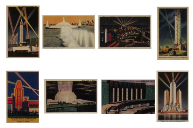 chicago wf postcards