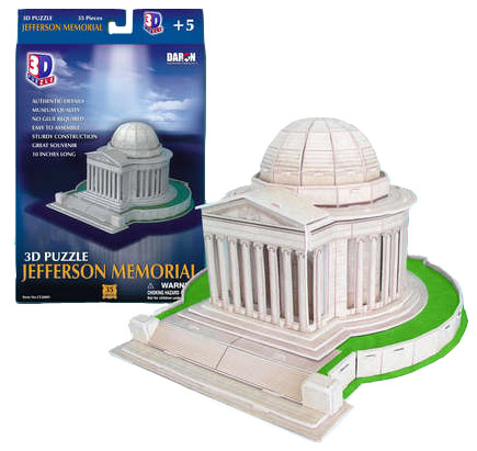3d jefferson memorial puzzle