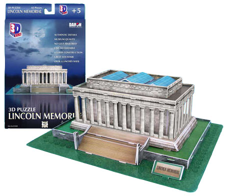 3d lincoln memorial puzzle