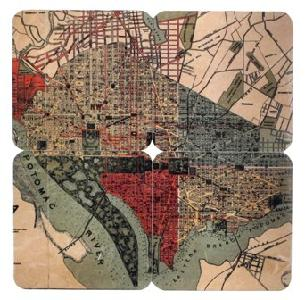 1887 dc map coasters