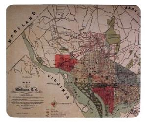 1887 dc map mousepad