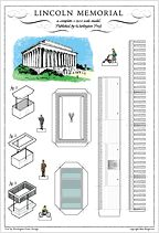 build your own lincoln memorial postcard
