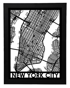 nyc framed streetmap