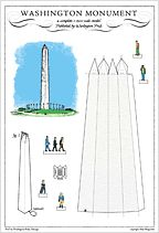 build your own washington monument postcard
