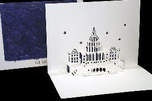 us capitol origami card