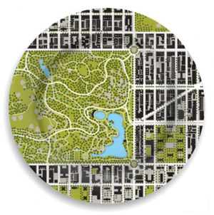 central park north meadow garden plate