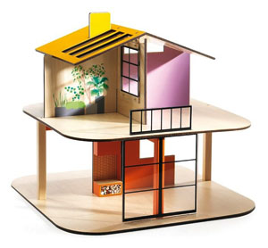 color house dollhouse