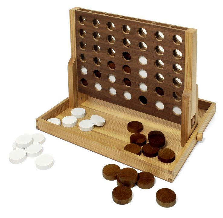 wood connect four