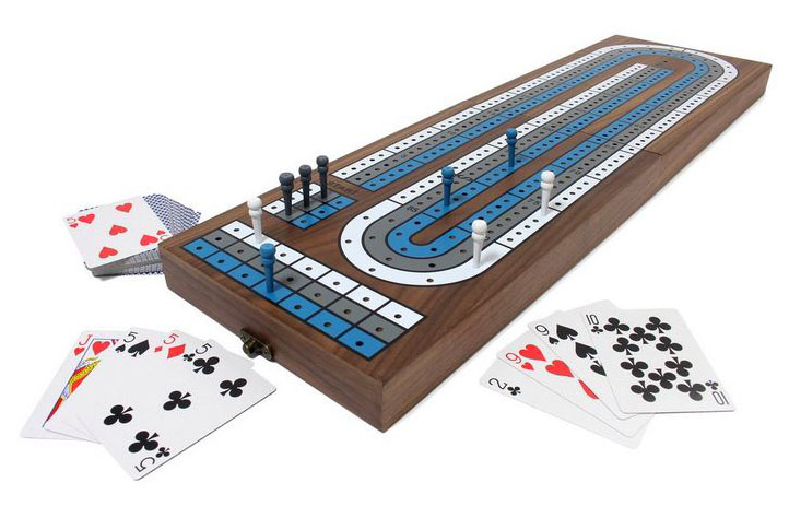wood cribbage set