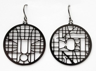 washington dc streetmap earrings