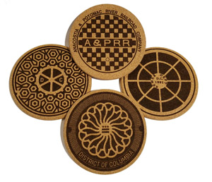 Washington DC Manhole Coasters