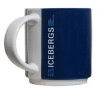 icebergs mug side view