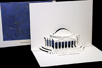 jefferson memorial origami card