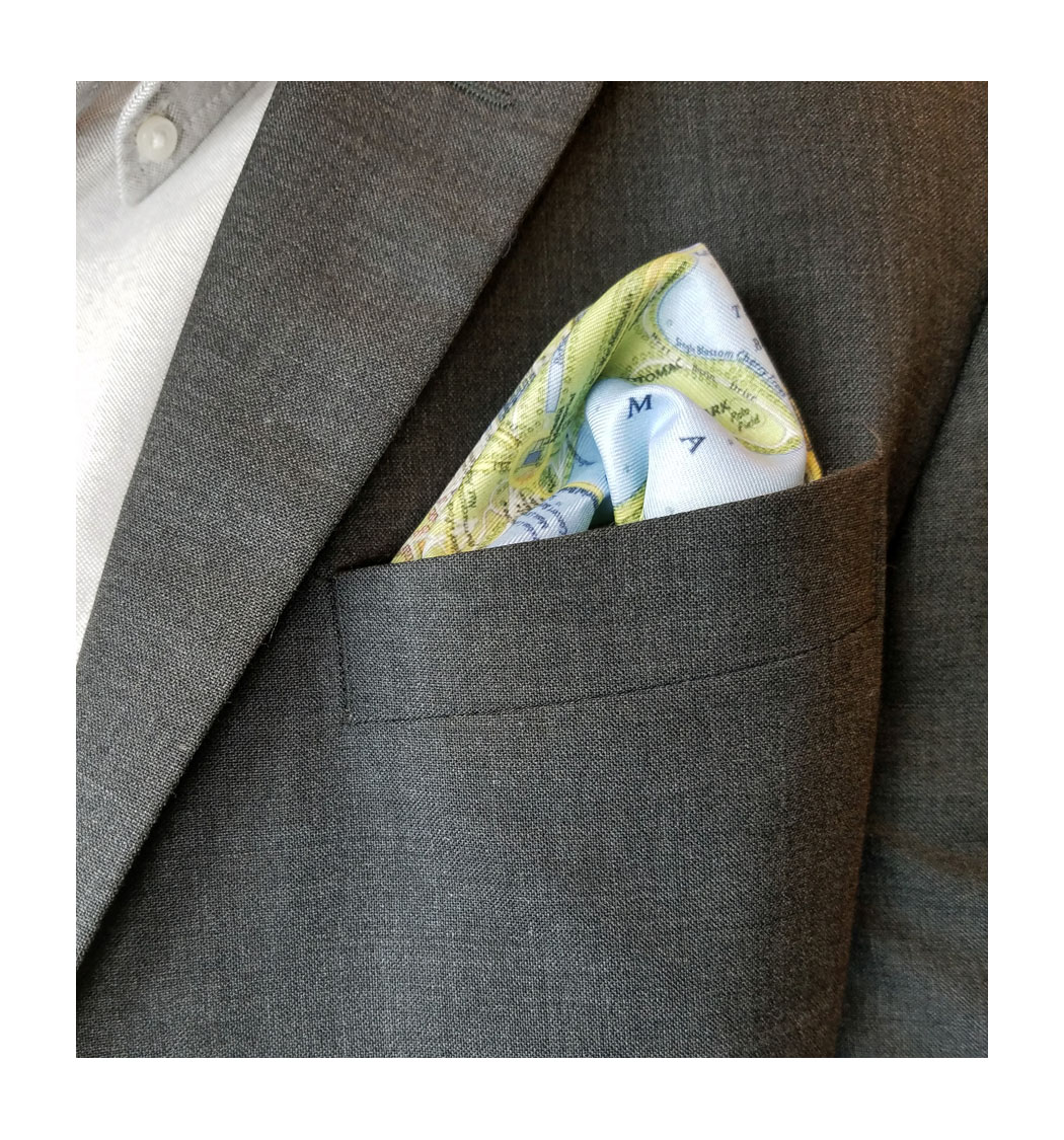 wdc city map pocket square
