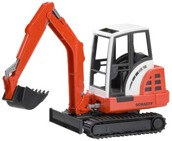 mini excavator from bruder