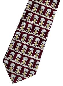 burgundy window tie