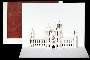 smithsonian castle origami card