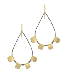 gold tab teardrop hoops