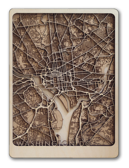 dc city map wall art