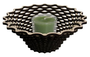 weave votive holder