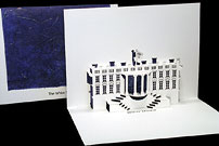 white house origami card