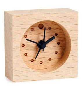 mini wood alarm clock