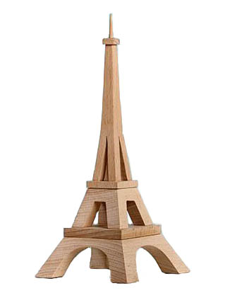 wood block eiffel tower